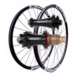 "SPARKPIECE XC 29"" superlight carbon asymmetric wheelset with Extralite Straightpull hubs, Sapim CX-Ray spokes 1227g / Make It Unique program"